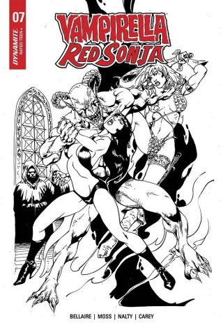 Vampirella / Red Sonja #7 (7 Copy Castro B&W Cover)