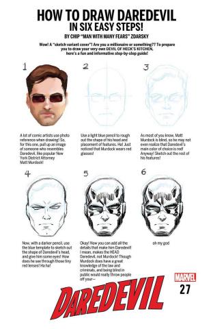 Daredevil #27 (Zdarsky How To Draw Cover)
