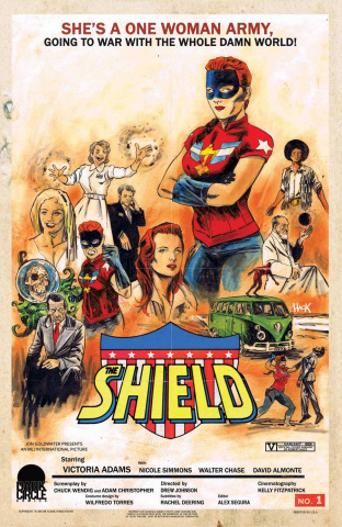 The Shield #1 (Movie Throwback Cover)