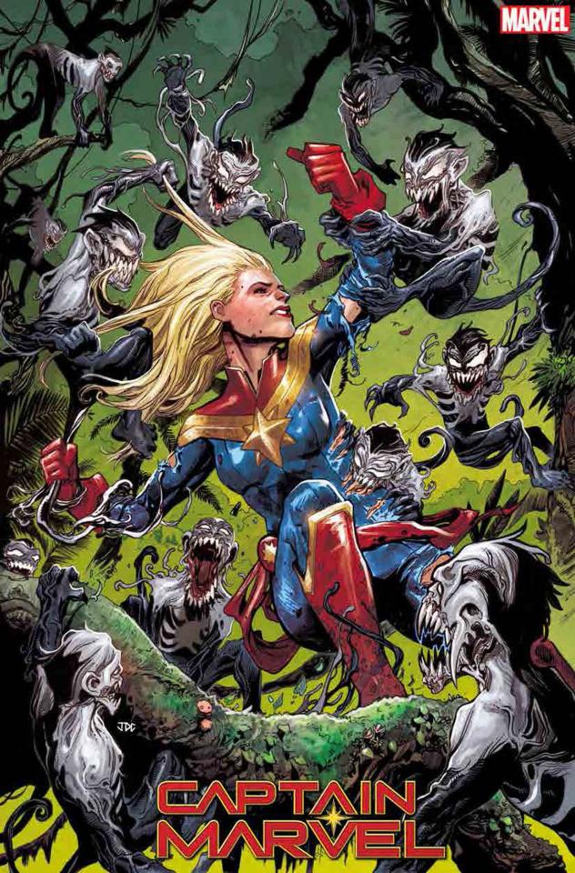Captain Marvel #13 (Cassara Venom Island Cover)