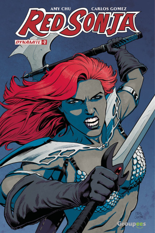 Red Sonja #7 (Groupees Cover)