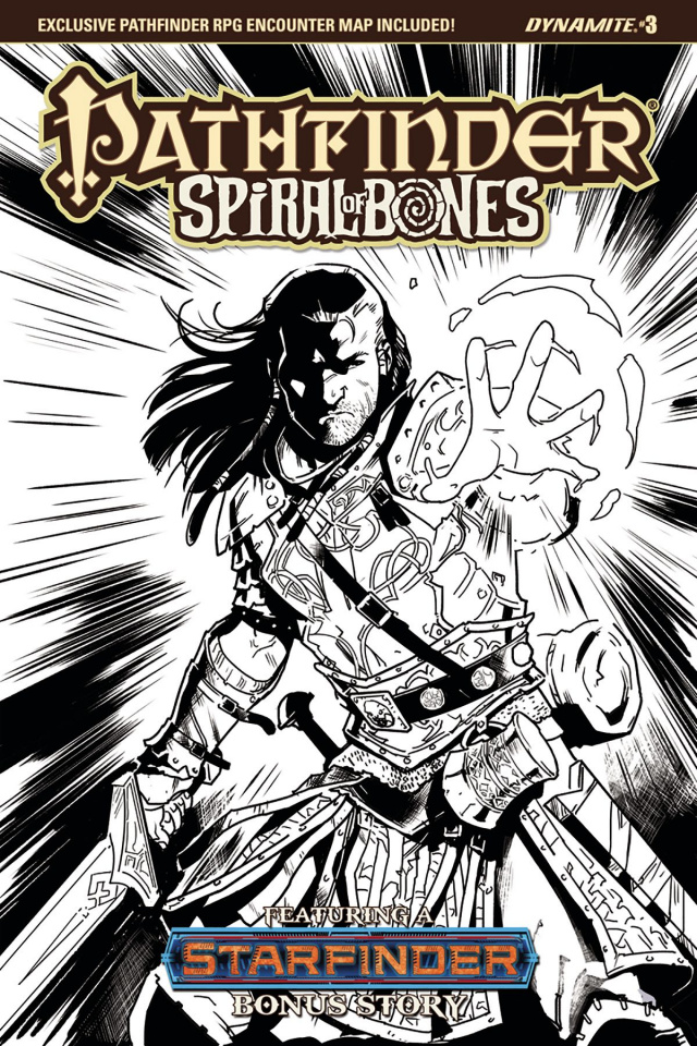Pathfinder: Spiral of Bones #3 (Galindo B&W Cover)