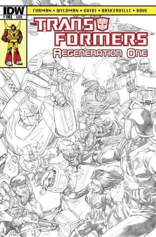 The Transformers: Regeneration One #100 (25 Copy Cover)