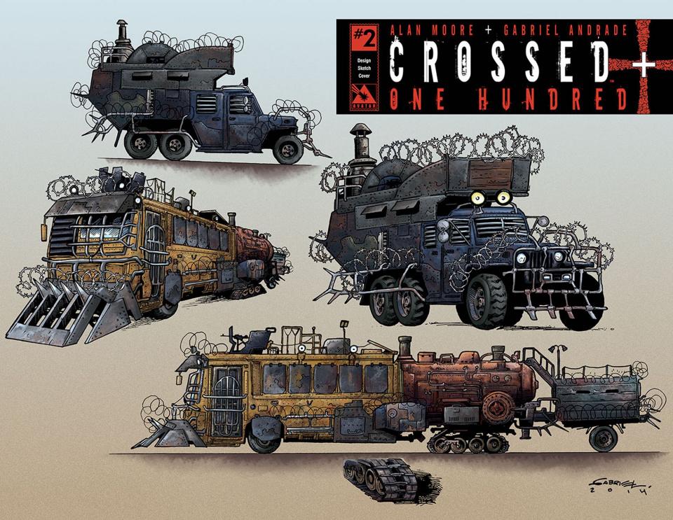 Crossed + One Hundred #2 (Design Sketch Cover)