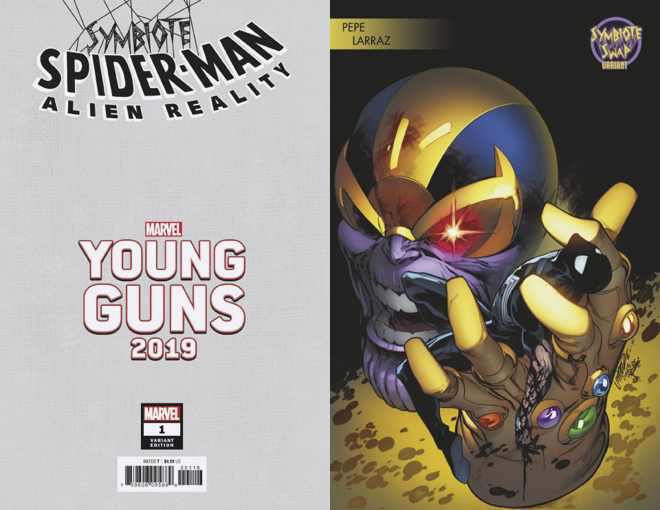 Symbiote Spider-Man: Alien Reality #1 (Larraz Young Guns Cover)
