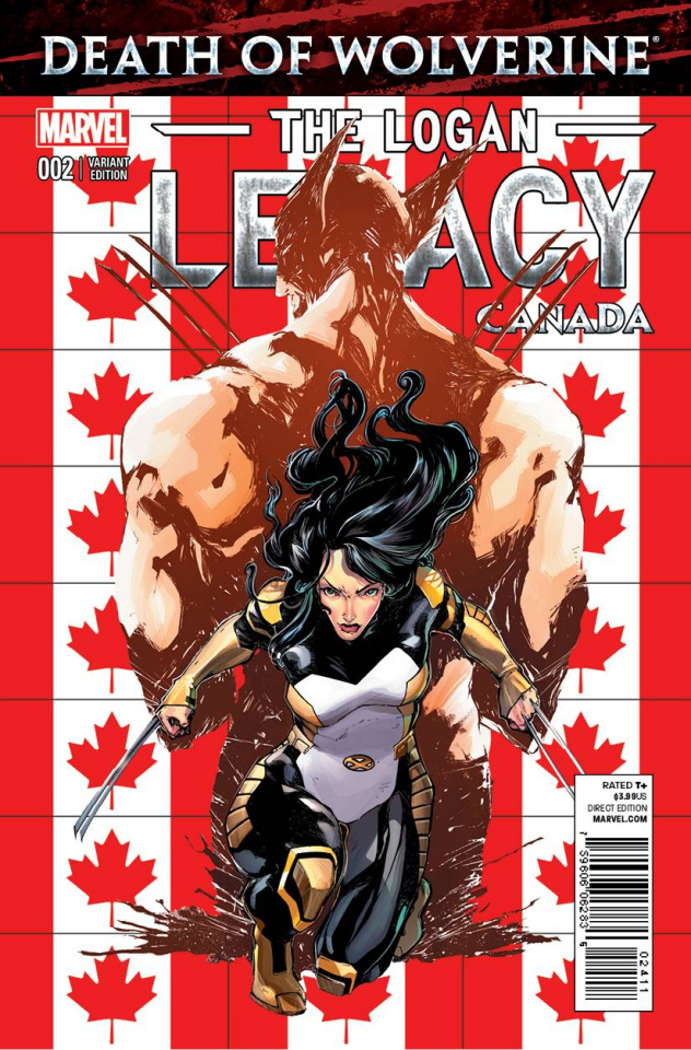 Death of Wolverine: The Logan Legacy #2 (Canada Cover)