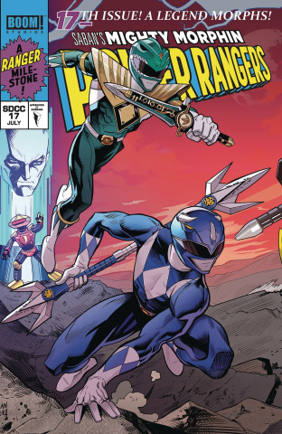 Mighty Morphin' Power Rangers #17 (Mora SDCC Cover)