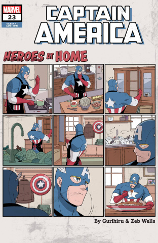 Captain America #23 (Gurihiru Heroes At Home Cover)
