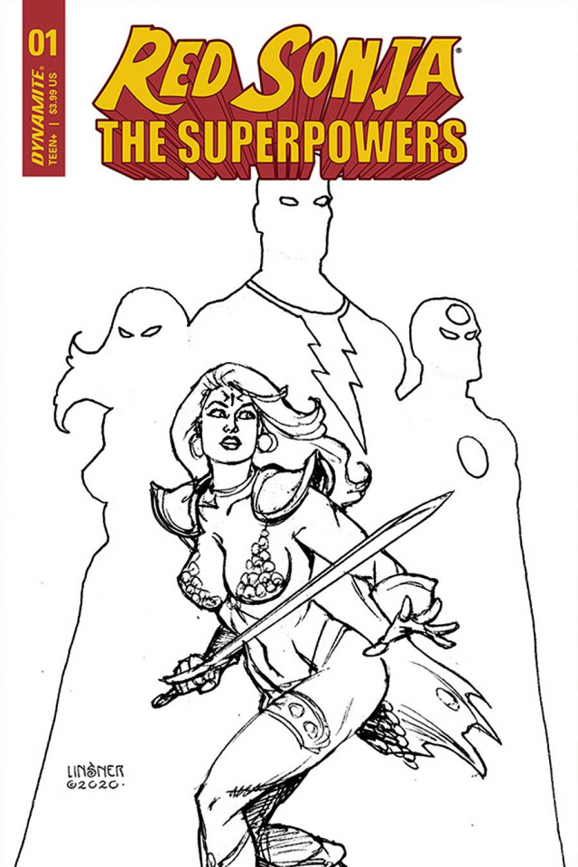 Red Sonja: The Superpowers #1 (30 Copy Linsner B&W Cover)
