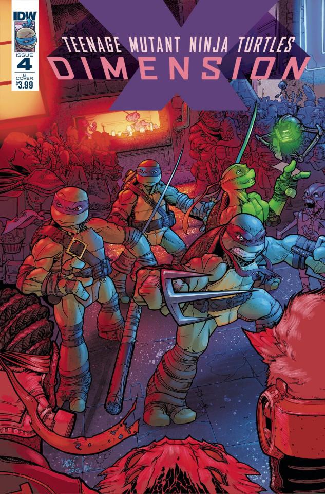 Teenage Mutant Ninja Turtles: Dimension X #4 (Johnson Cover)