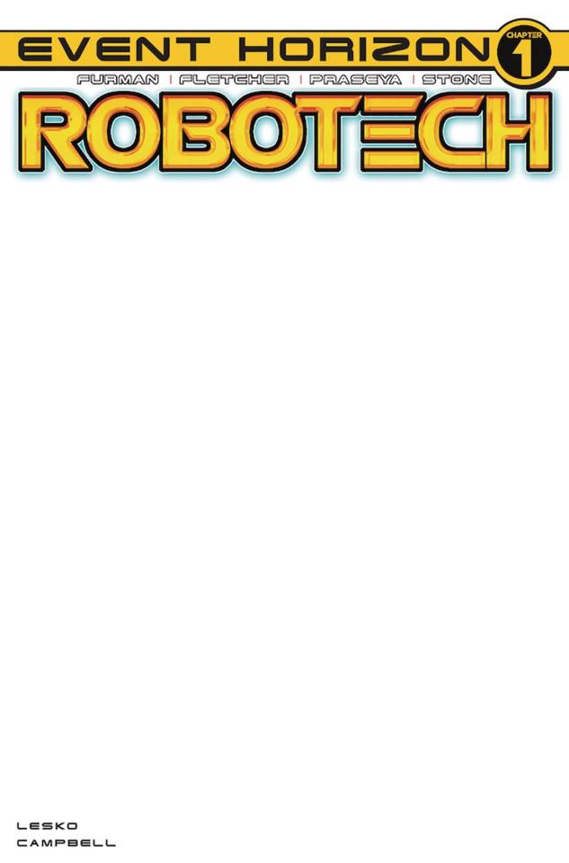 Robotech #21 (Blank Sketch Cover)