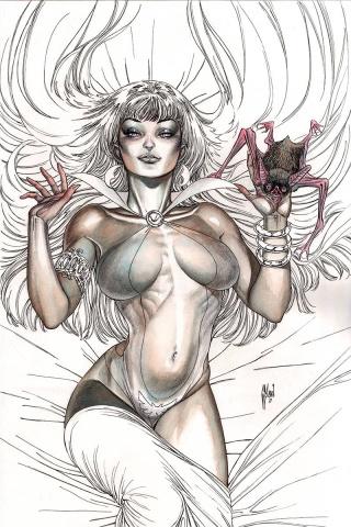 Vampirella #10 (35 Copy March B&W Virgin Cover)