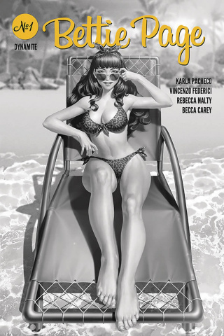 Bettie Page #1 (25 Copy Yoon B&W Cover)