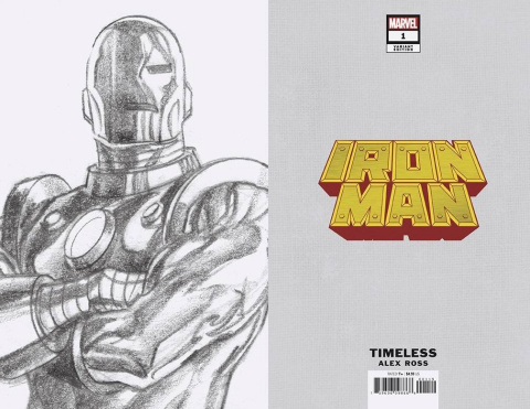 Iron Man #1 (Alex Ross Iron Man Timeless Virgin Sketch Cover)