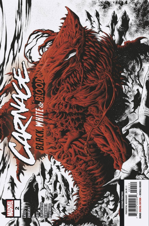 Carnage: Black, White, and Blood #2 (Hotz 2nd Printing)