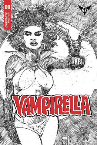 Vampirella #8 (20 Copy Cowan B&W Cover)