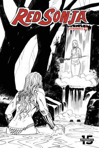 Red Sonja #5 (50 Copy Bob Q Seduction B&W Cover)