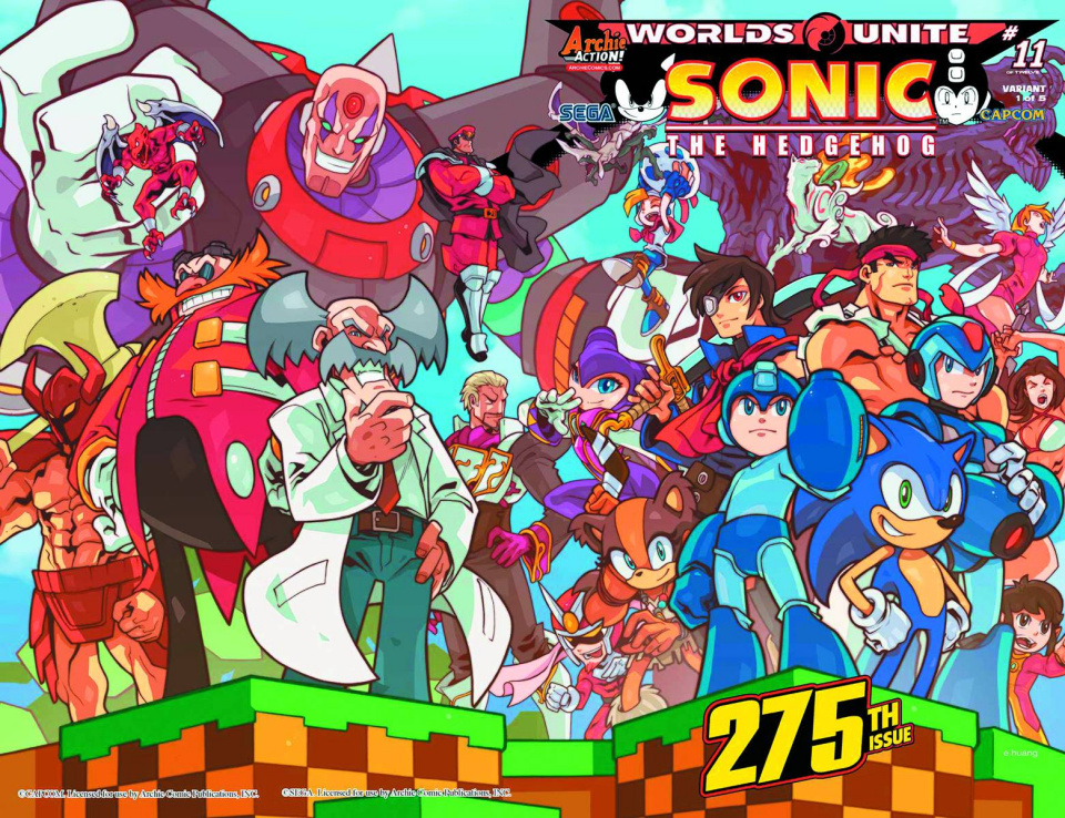 Sonic the Hedgehog #275 (Huang Wraparound Cover)