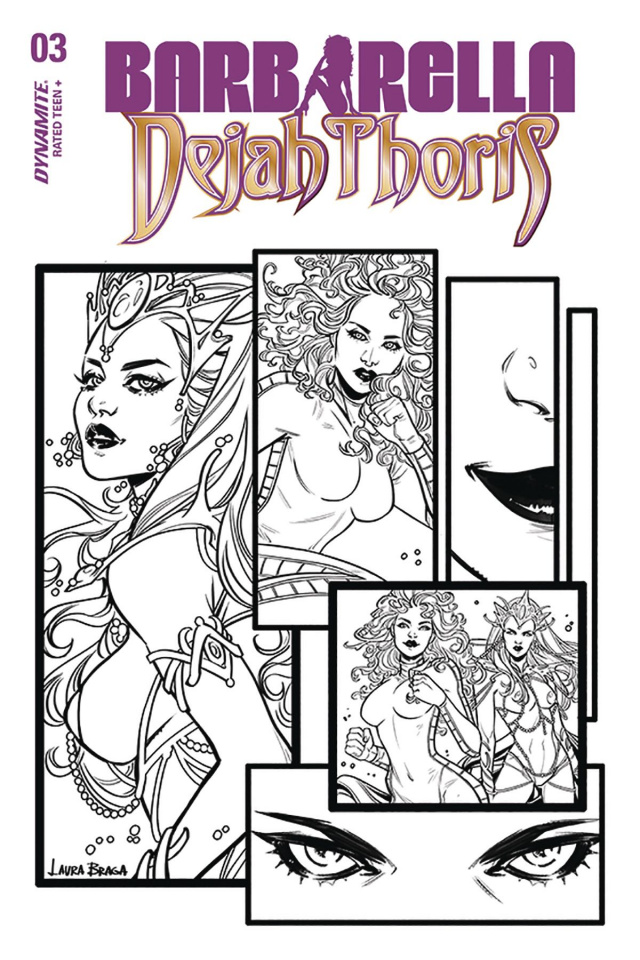 Barbarella / Dejah Thoris #3 (30 Copy Braga B&W Cover)