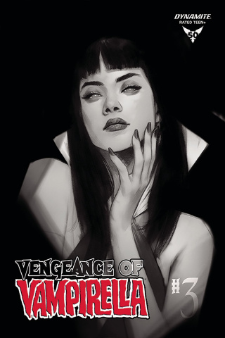 Vengeance of Vampirella #3 (30 Copy Oliver B&W Cover)