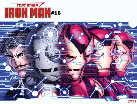 Tony Stark: Iron Man #16 (Bradshaw Immortal Wrap Cover)