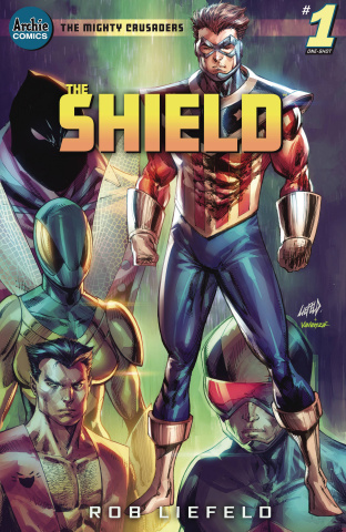 Mighty Crusaders: The Shield (Top Secret Liefeld Cover)