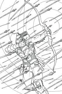 Green Arrow #48 (Adult Coloring Book Cover)
