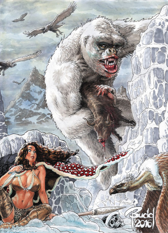 Cavewoman: Freakin' Yetis! #1 (Root Cover)