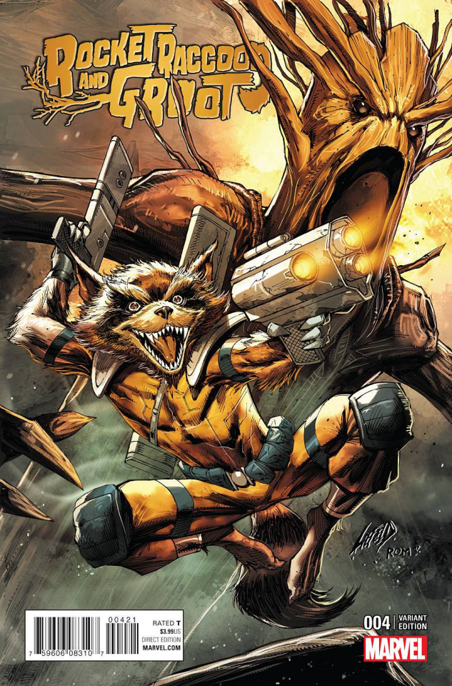 Rocket Raccoon and Groot #4 (Liefeld Classic Cover)