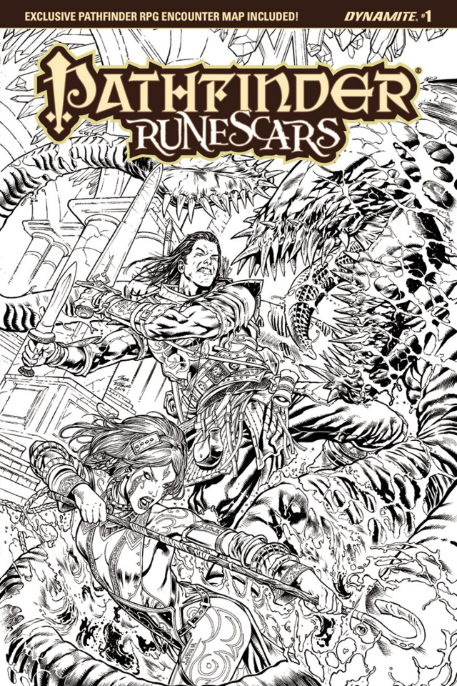 Pathfinder: Runescars #1 (25 Copy Lima B&W Cover)