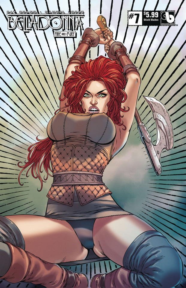 Belladonna: Fire and Fury #7 (Shield Maiden Cover)