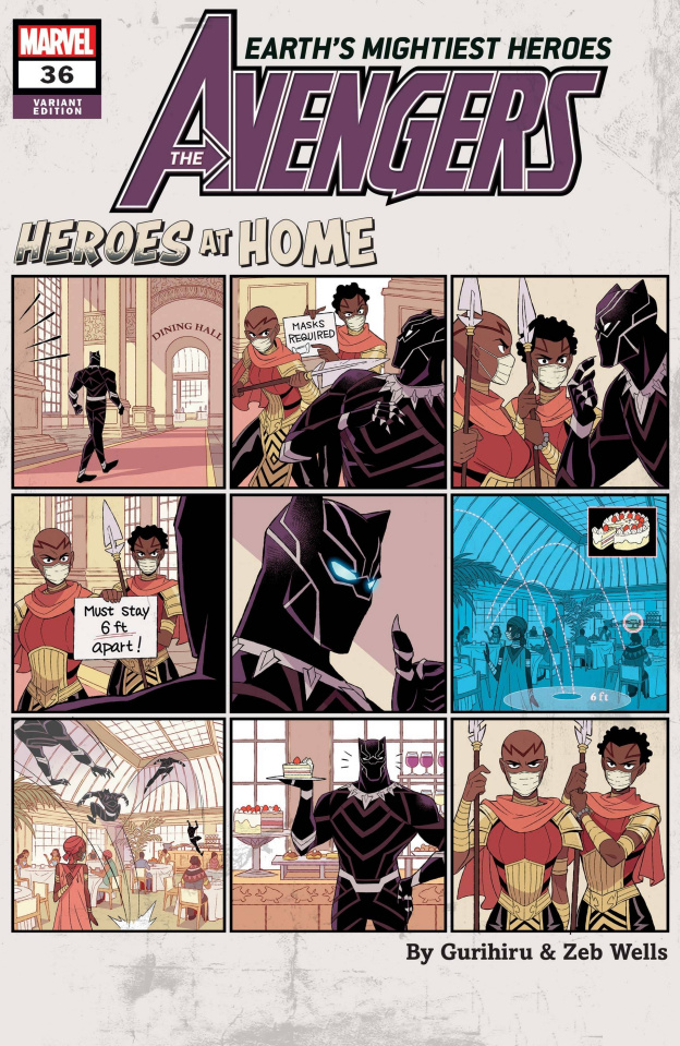 Avengers #36 (Gurihiru Heroes At Home Cover)