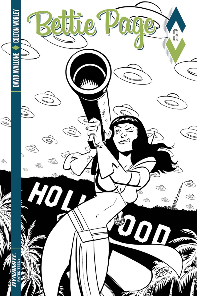 Bettie Page #3 (10 Copy Chantler B&W Cover)