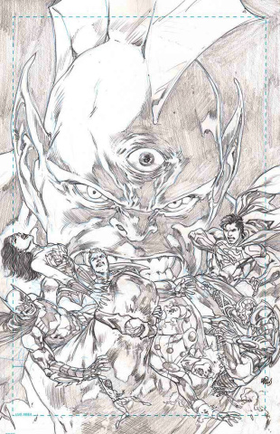 Justice League #20 (Black & White Cover)