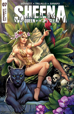 Sheena #7 (Sanapo Cover)