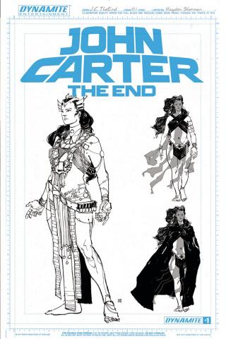 John Carter: The End #1 (10 Copy Sherman Art Board Cover)