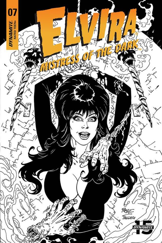 Elvira: Mistress of the Dark #7 (20 Copy Royle B&W Cover)