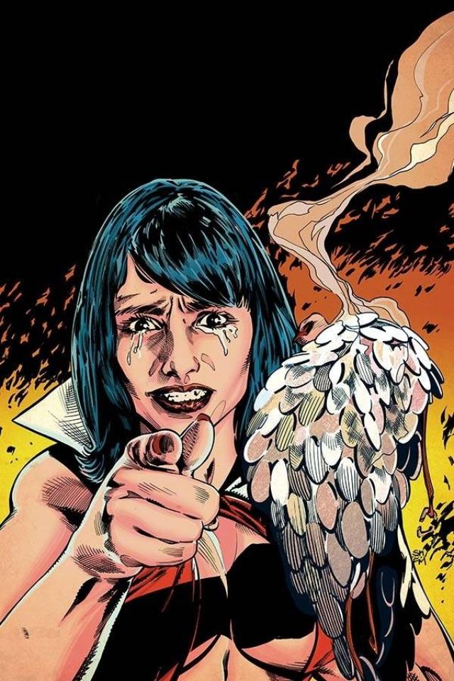 Vampirella / Red Sonja #10 (Mooney Virgin Homage Cover)