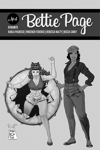 Bettie Page #4 (20 Copy Federici Homage B&W Cover)
