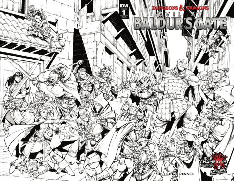 Dungeons & Dragons: Evil At Baldur's Gate #1 (25 Copy Cover)