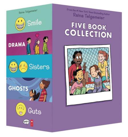 Raina Telgemeier Five Book Collectiion