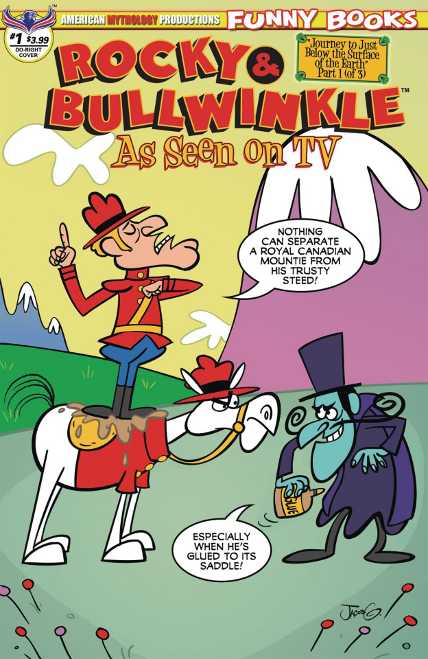 Rocky & Bullwinkle: As Seen On TV #1 (Dudley Doright Cover)
