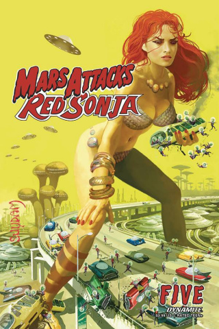 Mars Attacks / Red Sonja #5 (Suydam Cover)