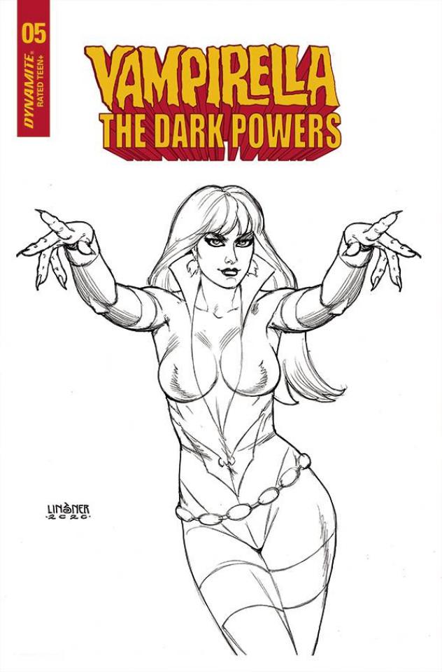 Vampirella: The Dark Powers #5 (20 Copy Linsner B&W Cover)