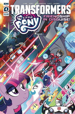 My Little Pony / The Transformers #4 (Fleecs Cover)