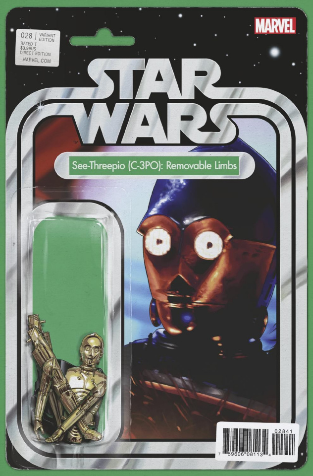 Star Wars #28 (Christopher Action Figure Cover)