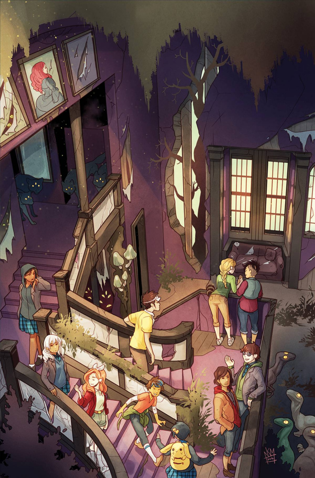 Lumberjanes / Gotham Academy #1 (Subscription Connect Matthews Cover)