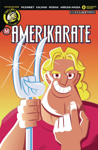 Amerikarate #8 (Perillo Wolvarate Cover)