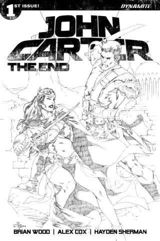 John Carter: The End #1 (20 Copy Rubi B&W Cover)