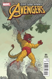 Uncanny Avengers #1 (Darrow Kirby Monster Cover)